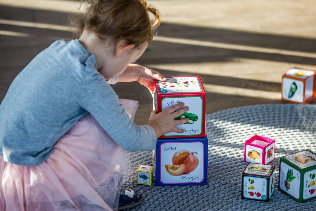 kartonowe klocki dla dzieci